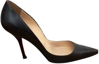 Christian Louboutin So Kate Brown Leather Heels
