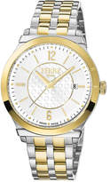 Ferré Milano Men's 42mm Stainless Steel Watch with Bracelet, Gold/Steel