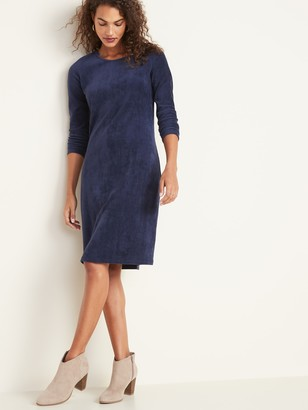 Old Navy Semi-Fitted Rib-Knit Midi Dress for Women