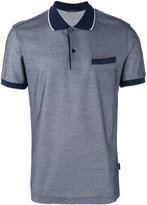 Pal Zileri contrast collar polo shirt - men - Cotton - M
