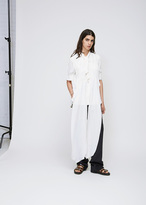 Marni Stone White Ss Silk Tie Neck Blouse