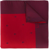 Alexander McQueen skull and dotted pocket square - men - Silk - One Size