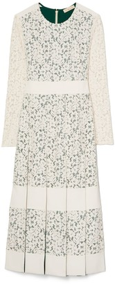 Tory Burch Pleated Lace Dress