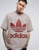 adidas Ac Boxy T-Shirt In Grey Br8702