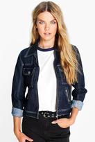 Boohoo Louise Square Pocket Denim Jacket