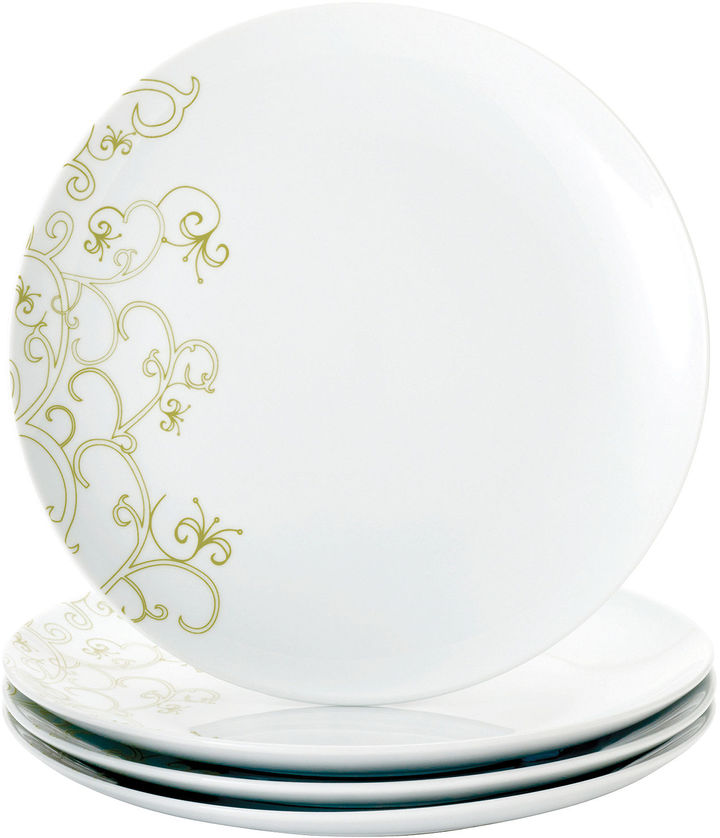 Rachael Ray Curly-Q Set of 4 Dinner Plates
