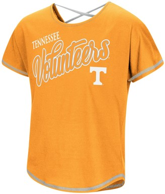 Colosseum Girls Youth Tennessee Orange Tennessee Volunteers Little Giants Dolman T-Shirt