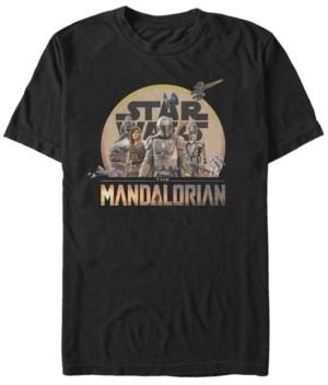 Star Wars Men's Mandalorian Sunrise Boba Fett Group T-shirt