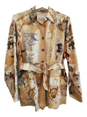 Hermes Beige Silk Jackets