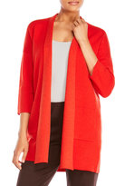 Eileen Fisher Shawl Collar Knit Cardigan