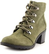 Anne Klein Karsen Women Round Toe Suede Green Ankle Boot.