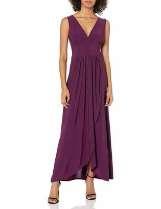 Star Vixen Women's Sleeveless Surplice Tulip Skirt Empire Band Maxi Dress