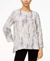 Eileen Fisher Tencel® Printed High-Low Top, Regular & Petite