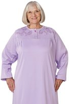 Silverts Disabled Elderly Needs Adaptive Open Back Knit Nursing Home Nightgown - 3XL
