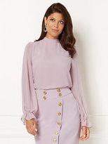 New York & Co. Eva Mendes Collection - Sevan Bow Blouse - Lavender