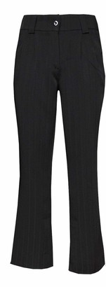 eyes Womans Tailored Wide Leg Trousers Office Work Bootcut Smart Formal Black Trouser (8