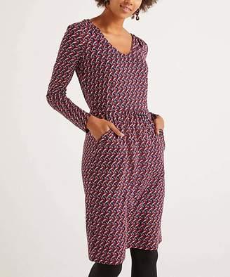 Boden Women's Casual Dresses Fig - Fig Bullfinch Romilly Pocket V-Neck Dress - Women & Petite