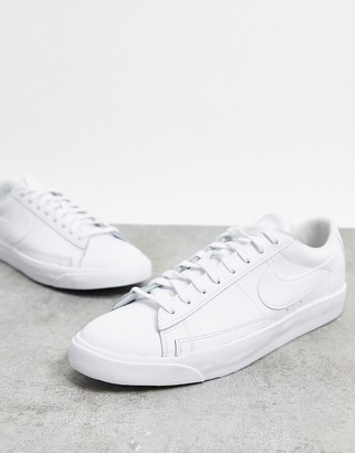 Nike Blazer Low Leather trainers in triple white
