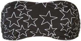 Dolce & Gabbana Star Print Bandeau Bikini Top
