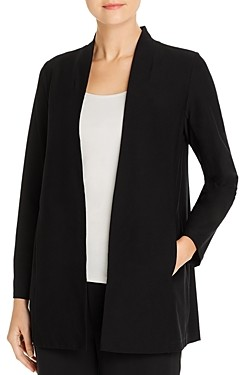 Eileen Fisher Petite System Long Stand-Collar Jacket