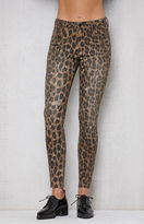 PacSun Leopard Ripped Mid Rise Skinny Jeans