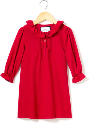 Petite Plume Victoria Flannel Pintucked Nightgown, Size 6M-14