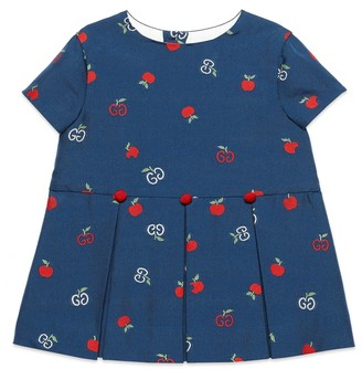 Gucci Baby GG apple fil coupe dress