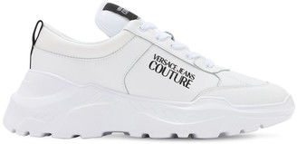 Versace 60mm Logo Leather Blend Speed Sneakers