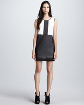 Robert Rodriguez Colorblock Chiffon Dress