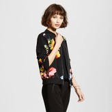 Mossimo Women's Floral Print Fashion Jacket Black