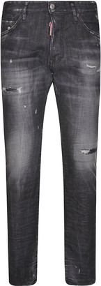 DSQUARED2 Distressed Stone-washed Jeans