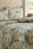 Tommy Bahama Tropical Orchid Twin Quilt Set - Green