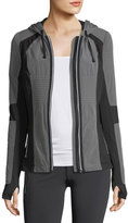 Blanc Noir Just In Case Zip-Front Hooded Performance Jacket