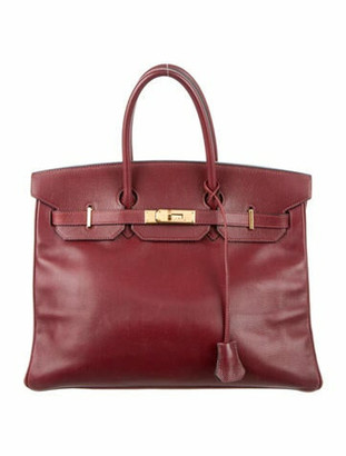 Hermes Vintage Courchevel Birkin 35 Rouge