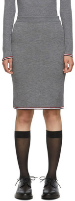 Thom Browne Grey Rib Pencil Skirt
