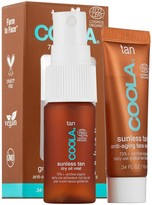 Coola Gradual Sunless Tan Anti-Aging Face Serum and Dry Oil Mist