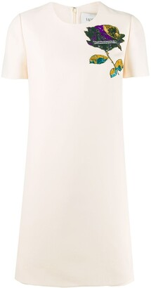 Valentino Cosmos bead patch mini dress
