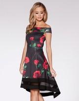 Quiz Bardot Dip Hem Dress