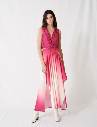 Maje Ombre satin scarf dress