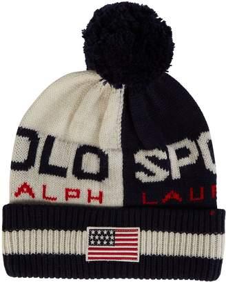 Polo Ralph Lauren Pom-Pom Colour-Block Beanie