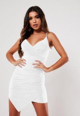 Missguided Slinky Strappy Wrap Cami Mini Dress