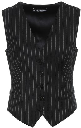 Dolce & Gabbana Striped wool-blend vest
