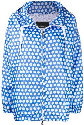 Ermanno Ermanno Polka Dot Zipped Jacket