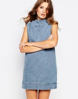 WÅVEN Ditte High Neck Denim Dress