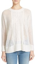Enza Costa Women's Basket Weave Sweater