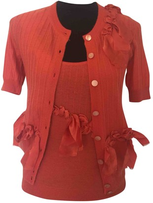 Christian Dior Orange Cotton Knitwear