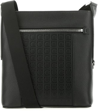 Salvatore Ferragamo Embossed Motif Crossbody Bag