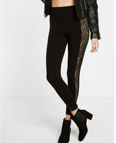 Express high waisted lace inset legging
