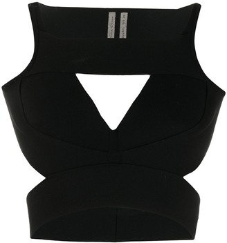 Rick Owens Cut Out Crop Top