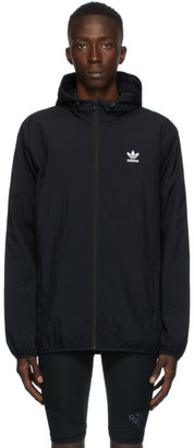 adidas Black Trefoil Essentials Windbreaker Jacket